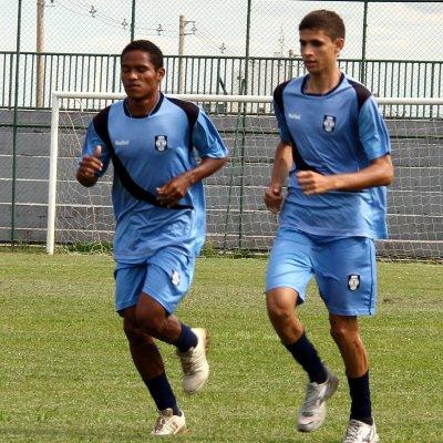Luiz Filipe, a direita,  revelado nas categorias de base