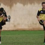 Rubens Cardoso e Cleber: à disposição do treinador