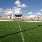Novo muro muda a aparência do Estádio Regional