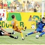 """No quadrangular-final 2005, Ceilândia e Brasiliense fizeram a """"decisão"""" na penúltima rodada. Gato Preto ficou em segundo lugar."""