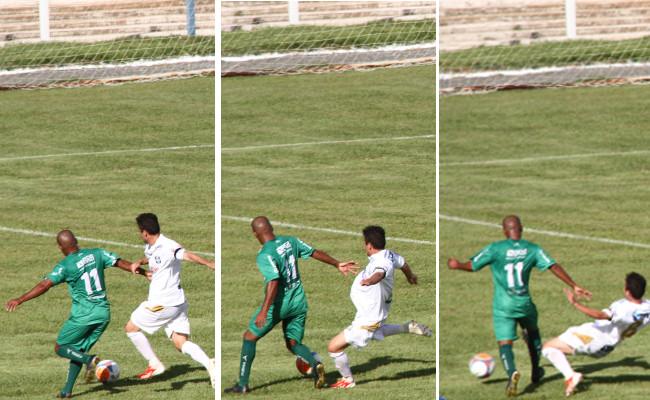 A arbitragem também foi ruim contra o Formosa: claramente não foi falta no lance que originou o segundo gol do Formosa