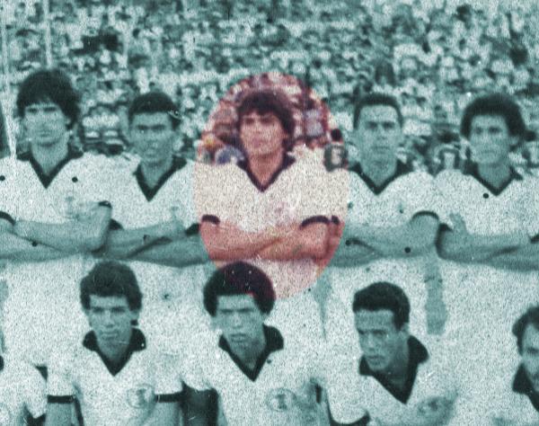 Chicão, no destaque, ficou marcado pelo penalti perdido em 1987