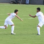 Felipe Cirne comemora o gol contra o Luziania em 2015: empate favoreceu o adversário