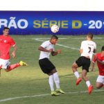 Ceilândia bateu cabeça no começo do jogo em Campo Grande-MS. Atenção para que isso não se repita