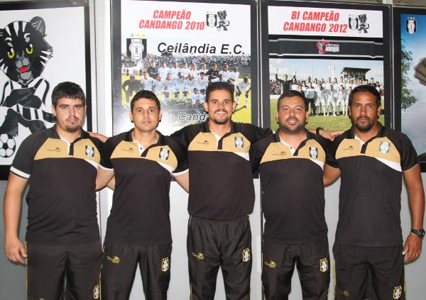 Bruno Zica, Jhonata Serejo, Leonardo Roquete, Gleyton Ariani e Fred Oliveira: Comissão Técnica dos Juniores
